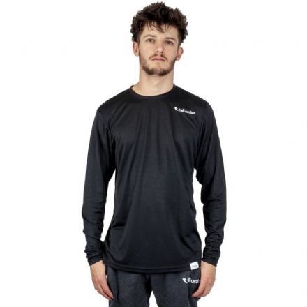 Tall Order Embroidered Logo Long Sleeve Breathe-tec - Black Large